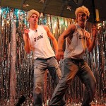 Pop duo Jedward were mimicked in a well choreographed routine